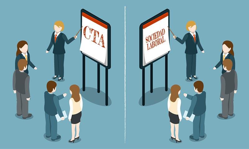 cta vs sociedad laboral