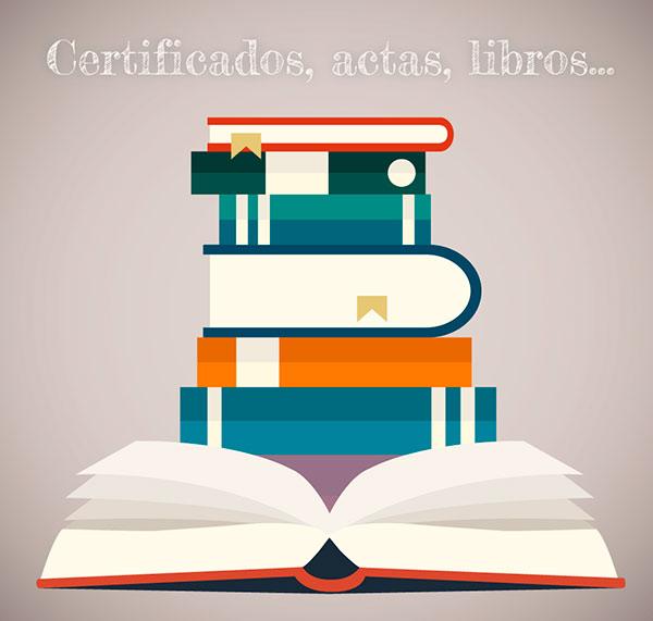 certificados actas libros